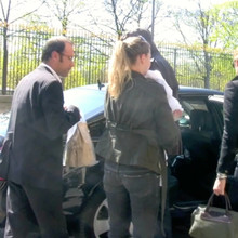 EXCLUSIVE FILE PHOTO Gisele Bundchen is seen in Paris with her chauffeur