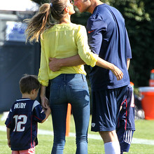 Tom Brady's Family Visits New England Patriots Practice