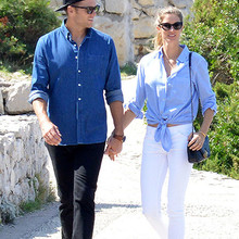 *PREMIUM EXCLUSIVE* Gisele B¸ndchen and Tom Brady are picturesque lovebirds during their Italian getaway