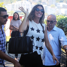 *EXCLUSIVE* Gisele Bundchen arrives for the 2017 Rock in Rio music festival