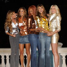 "©AXELLE/BAUER-GRIFFIN.COM Victoria's Secret ""Angels Across America"" cross-country tour - Las Vegas.  Hard Rock Hotel & Casino and The Bellagio Hotel, Las Vegas, Nevada. November 11, 2004. www.bauergriffin.com  Gisele Bundchen, Heidi Klum, Tyra Banks, Adriana Lima and Alessandra Ambrosio."