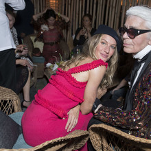 ***NO WEB*** Celebrities pose at the party during the Chanel Cruise in La Havana, Cuba.