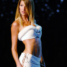 Supermodel Gisele Bundchen on the runway during Victoria's S